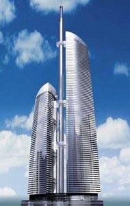 Москва-Сити включает в себя 15 многофункциональных небоскребов.  Это крупнейший.
