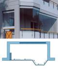 Pис.8: Возможность свободного сегментирования позволяют остеклить балконы любой формы (система безрамного остекления SKS STAKUSIT)  A-сложная форма; Б-круглая форма