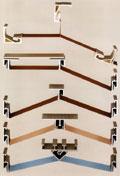 Пример способов крепления полотна по гарпунной технологии для устройства криволинейных потолков (BARRISOL)