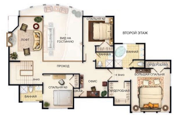 Рис. 2  План второго этажа