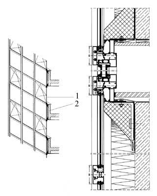 схема глухого окна