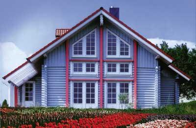 дома хонка из оцилиндрованного бревна