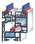 Рис.2 Конструктивная схема окна из ПВХ со спаренным переплетом (BRUGMANN) .
