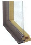 рис.1 Комбинированное деревянно-алюминиевое окно со спаренными переплетами...