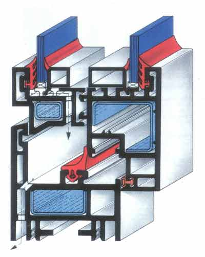 Конструктивная схема окна из